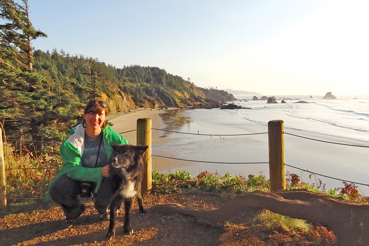 Audrey Jo Mills and her companion Pepe set out together to hike the Oregon Coast Trail.