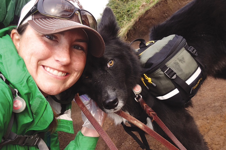 Audrey Jo Mills and her dog Pepe hiked the Oregon Coast Trail together.