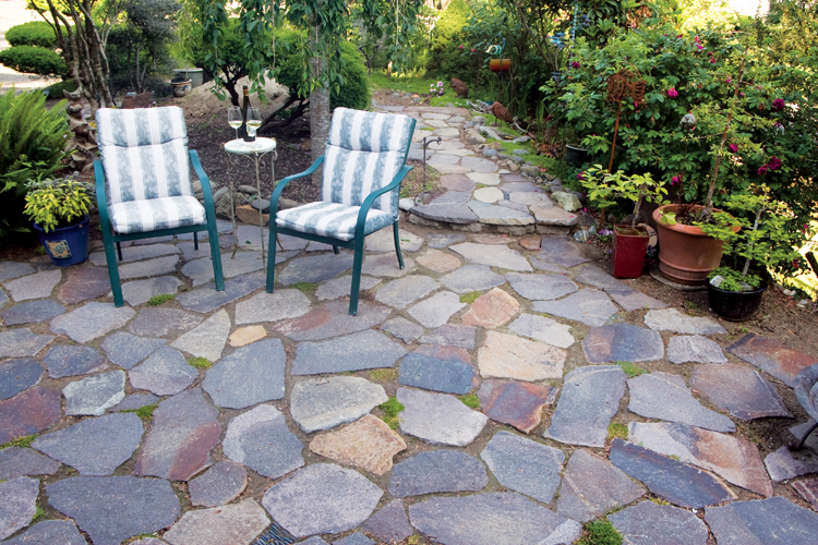 A flagstone patio can bring natural elegance to your outdoor space.