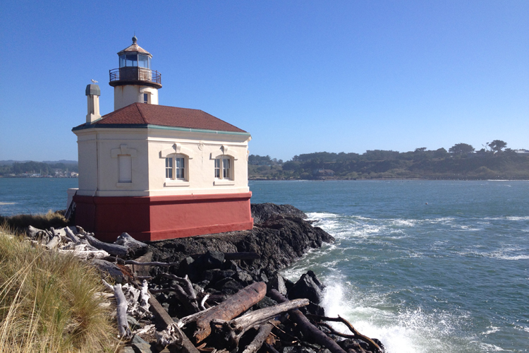 Coquille River Lighthouse near Bandon, Oregon.