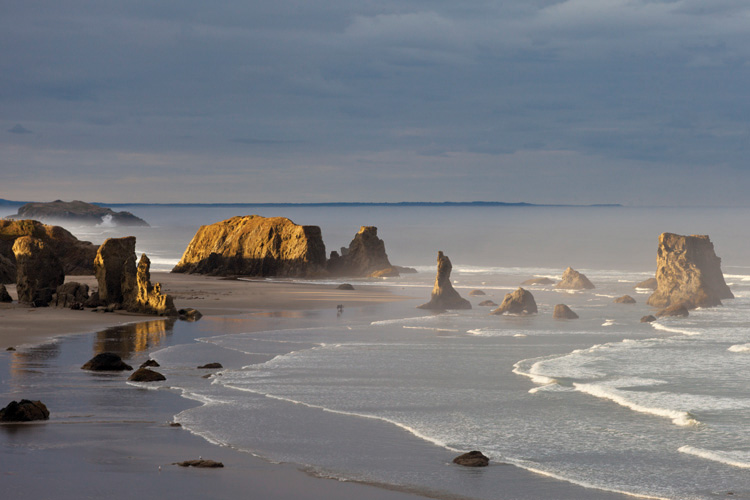 View of the beach at Bandon from Coquille Point