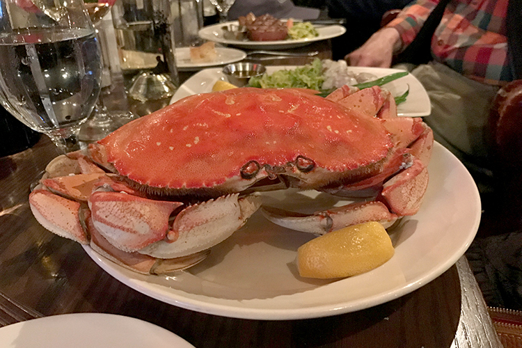 Dungeness Crab at the Wayfarer in Cannon Beach, Oregon