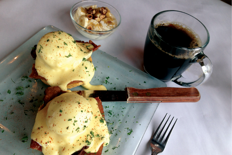 Eggs Sardou with crispy bacon, artichoke and Hollandaise at La Maison ...