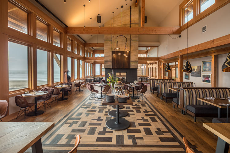 Meridian dining room at the new Headlands Coastal Lodge and Spa in Pacific City.