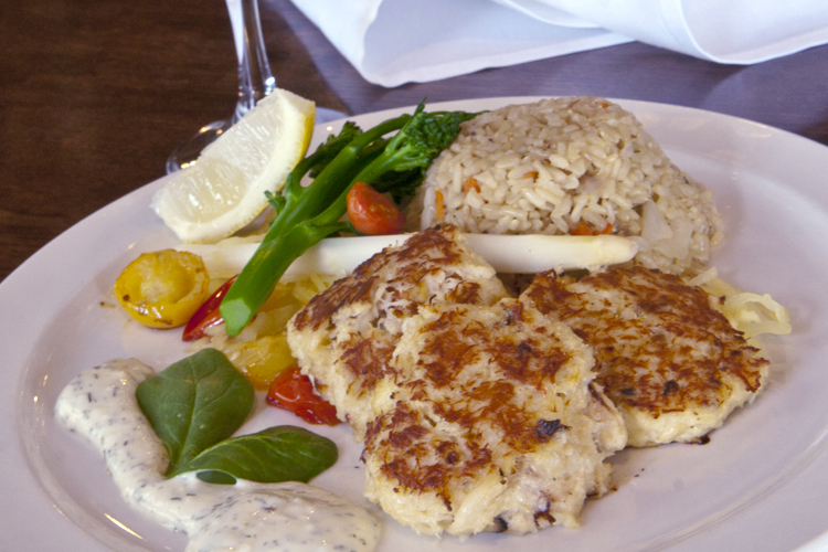 The Crab Cakes at the Seaside Oceanfront Inn makes our list of top seafood dining in Seaside.