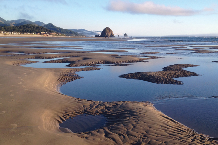 A View of Haystack Rock in Cannon Beach