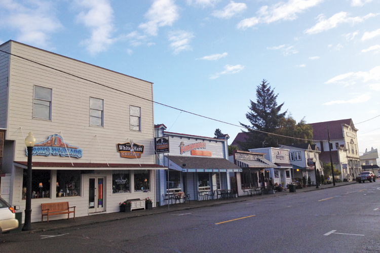 Street View of Old Town Florence, Oregon