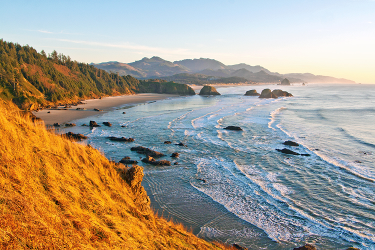 View from Ecola State Park in Cannon Beach, Oregon