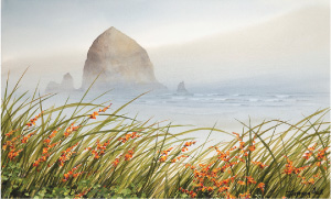 New Works in Watercolor from Cannon Beach Artist Jeffrey Hull