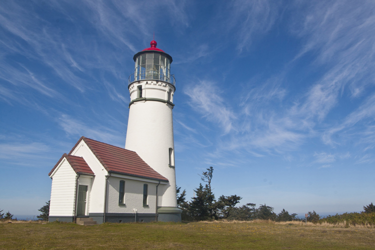 The Cape Blanco Lighthouse, located near Port Orford, is Oregon