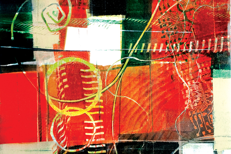 Circuit Art 2 monotype series print