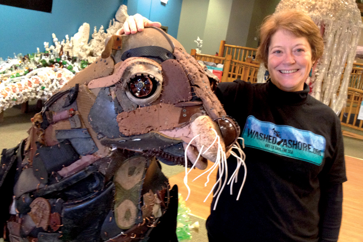 Executive director of The Washed Ashore project and lead artist, Angela Haseltine Pozzi.