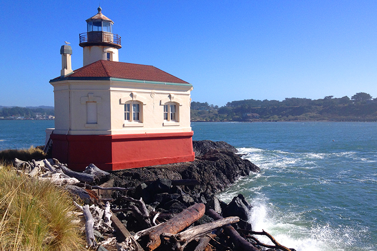 Coquille River Lighthouse at Bullards Beach State Park near Bandon