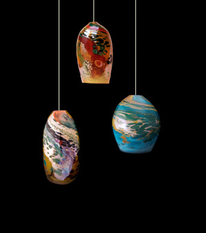 Blown glass lights at dragonfire gallery in cannon beach blown glass pendant lights by kelly howard are now available at dragonfire gallery in cannon beach aloadofball Images
