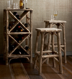 Driftwood Furniture from Fairweather House & Garden