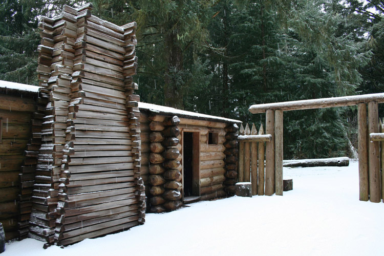 Winter at Fort Clatsop, Lewis & Clark National Historical Park in Astoria, Oregon