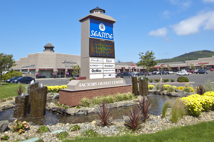Seaside Factory Outlet Center, located at the intersection of Highway 101 and 12th Street, features name brands at big savings.