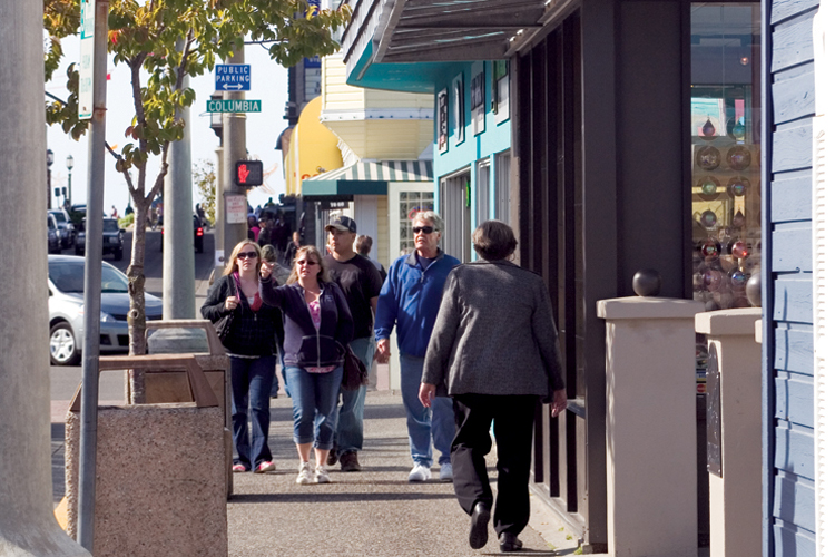 Downtown Seaside is a great place to stroll and shop.