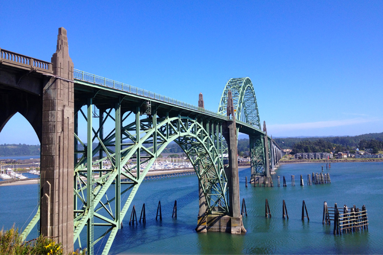 Newport's Yaquina Bay Bridge, completed in 1936, is one of the 14 bridges on Highway 101 designed by Conde McCullough.
