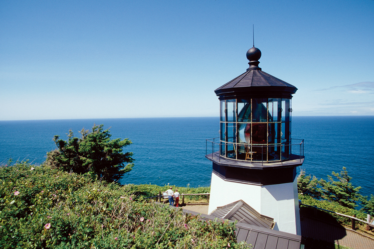Cape Meares Lighthouse, 10 miles west of Tillamook, is the shortest of all the historic lighthouses on the Northwest coast.