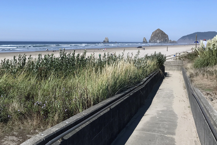 Wheelchair access to the beach is provided at Tolovana Beach State Recreation Site.