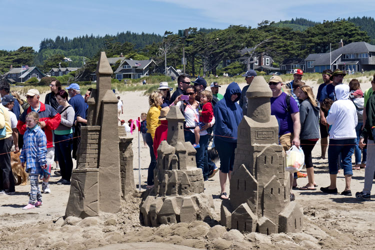 Master Artists Build On Tradition Creating Sculptures Of Sand That Are Washed Away By The Next High Tide At 52nd Annual Cannon Beach Sandcastle Contest
