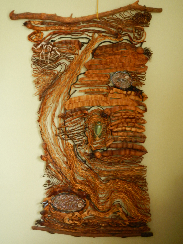 Organic wall hanging by Ursula Diddl,