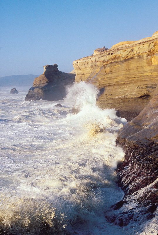Viewpoints from Cape Kiwanda are among the Oregon Coast's top spots for watching exciting ocean action.