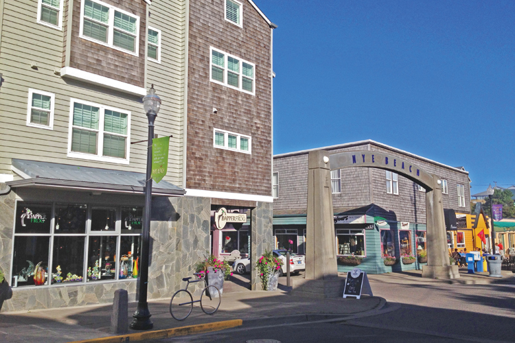 Historic Nye Beach District in Newport, Oregon