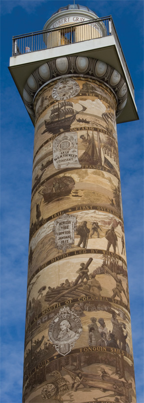 The 125-foot high Astoria Column was built in 1926 to commemorate the westward migration.