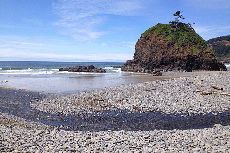 Short Beach at Cape Mears State Scenic Viewpoint