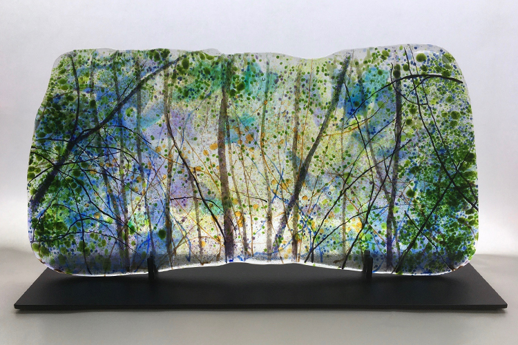 Fused glass by Angelita Surmon at Northwest By Northwest Gallery