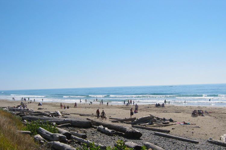 The Long Stretch Of Sand At Beverly Beach State Park Extends Roximately Five Miles Between Yaquina