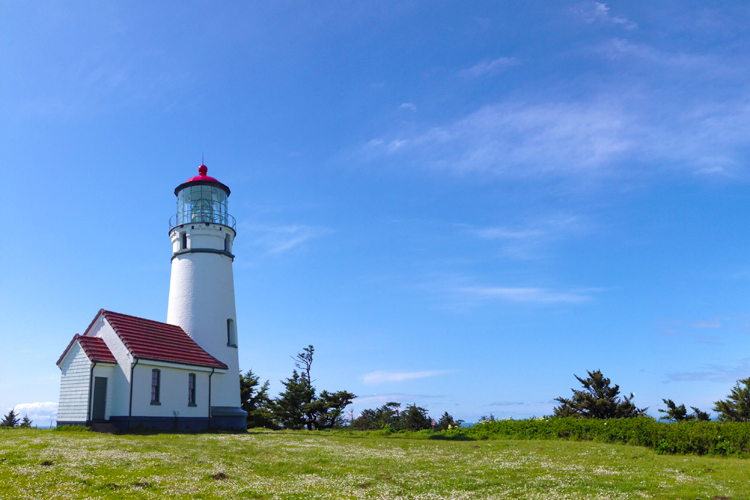 The Cape Blanco Lighthouse, panoramic views and hiking trails are among the attractions of Cape Blanco State Park.