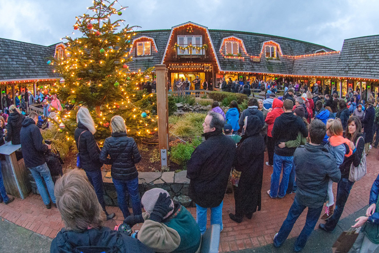 Cannon Beach in Lights begins November 28. Voters choose the best display, announced on December 20.