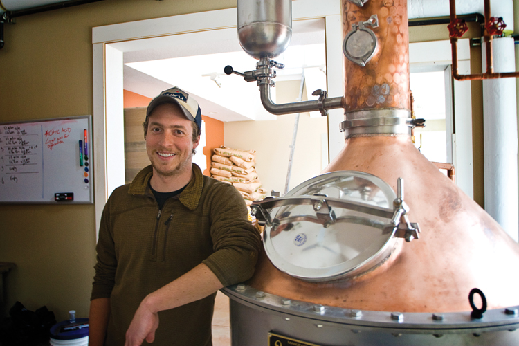 Mike Selberg, owner and alchemist at Cannon Beach Distillery.