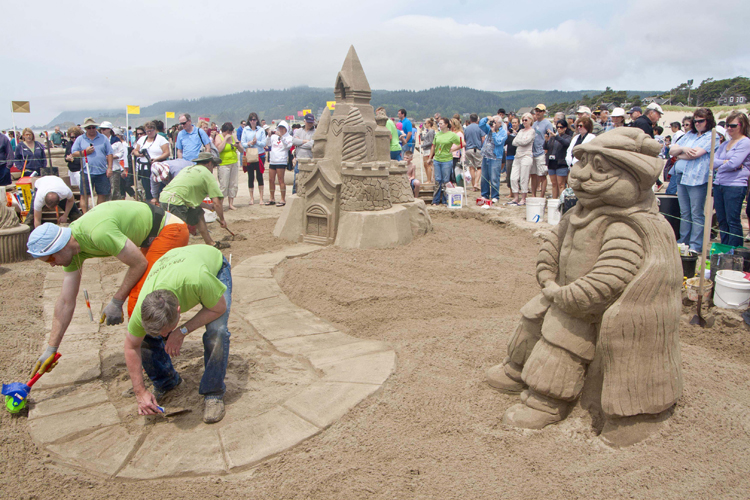 Dozens Of And Masters Teams Will Compete During The 50th Annual Cannon Beach Sandcastle Contest